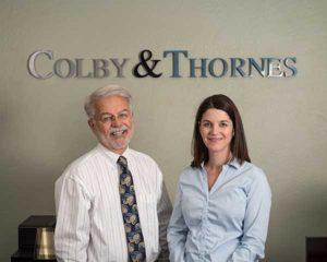 Attorneys Colby and Thornes